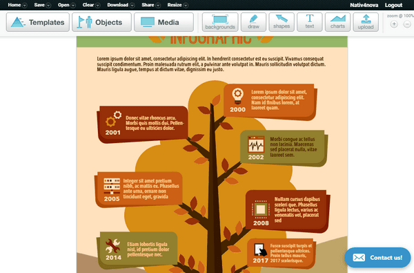 Онлайн-сервис создания инфографики