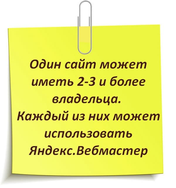 Использование Яндекс.Вебмастер несколькими владельцами сайта