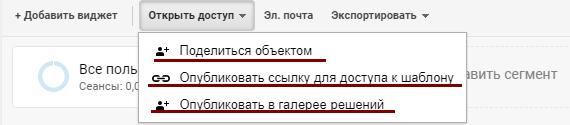 Google Analytics:открыть доступ
