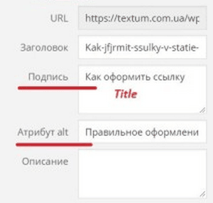 Атрибуты alt и title в WordPress
