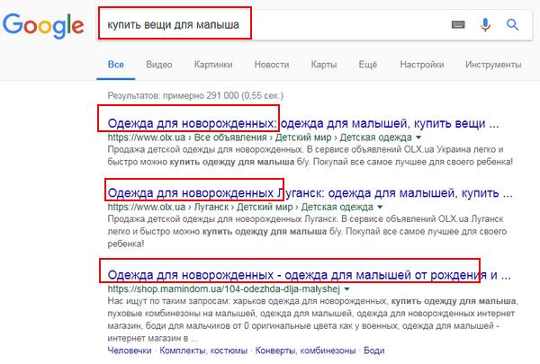 Поиск в Google синонимы