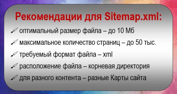 Директива Sitemap: требования