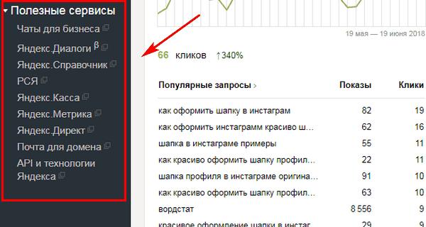 Полезные сервисы в Яндекс.Вебмастер