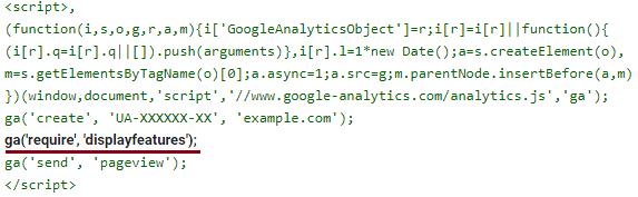 Google Analytics аудитория, код