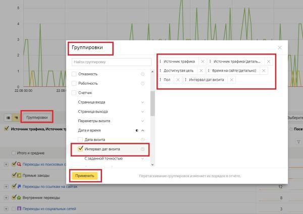 Сегментирование данных источников в Яндекс. Метрике
