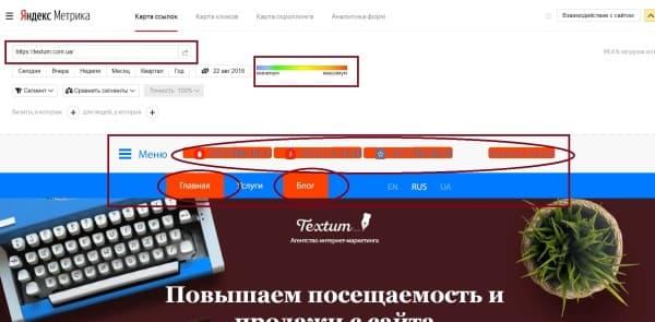 Карта ссылок в Яндекс. Метрике