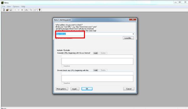 Проверка битых ссылок в программе Xenu's Link Sleuth