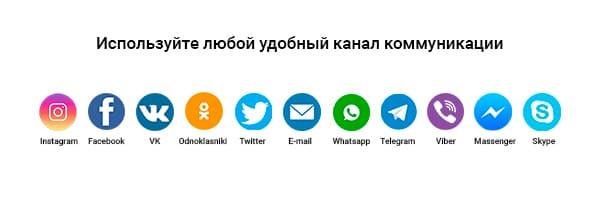 Список мессенджеров и соцсетей