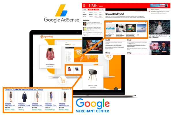 Подключение Google AdSense и Merchant Center