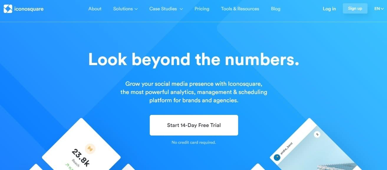 Окно анализа профиля в Инстаграм через сервис IconoSquare