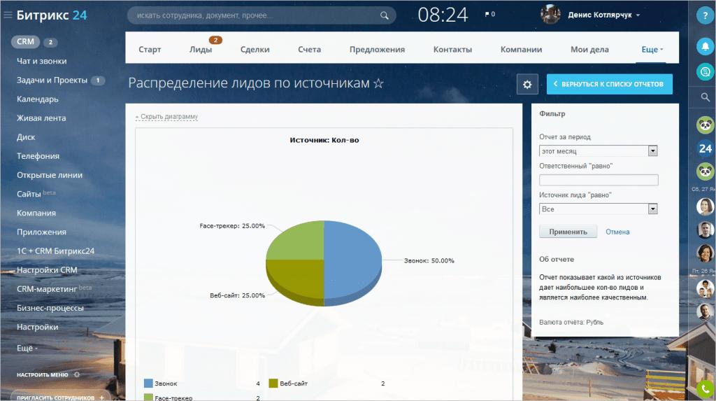 Скриншот работы программы Bitrix24