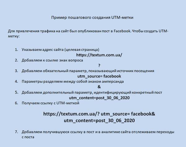 Создание UTM-метки
