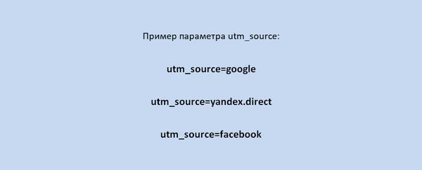 Пример utm_source