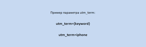 Пример utm_term