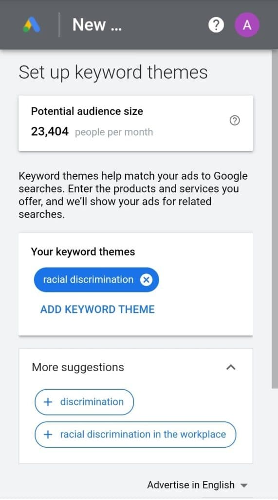 Подбор поисковых запросов в Google AdWords