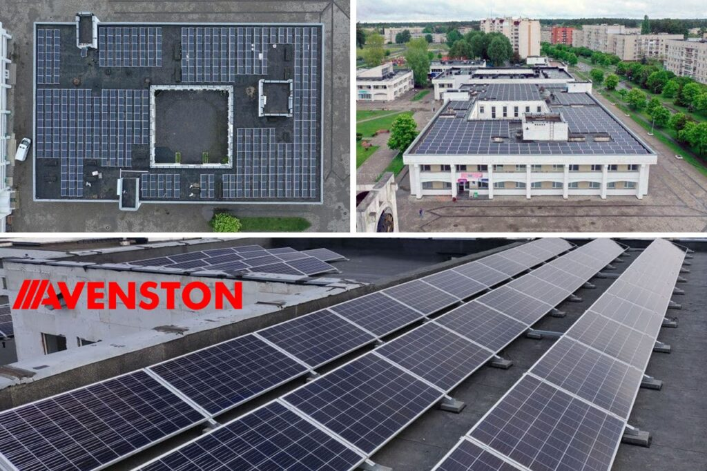 Фотоэлектростанция на крышах г. Славутич